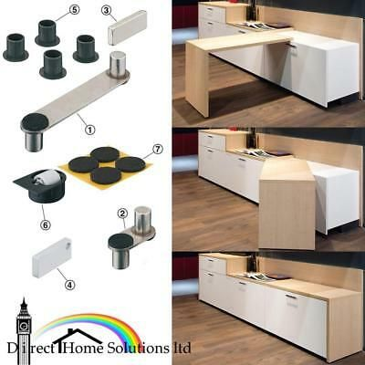 Photo of Details about Hafele Table Top Sideboard Swivel Fitting Set …