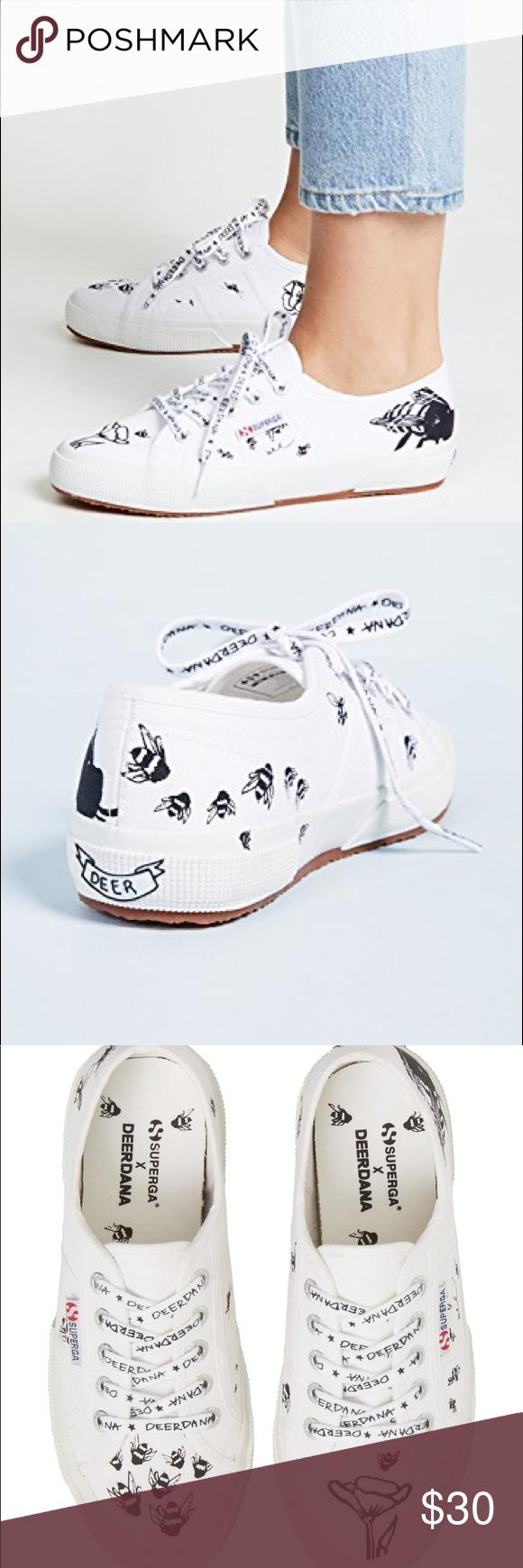 Superga unisex bee design tennis shoes