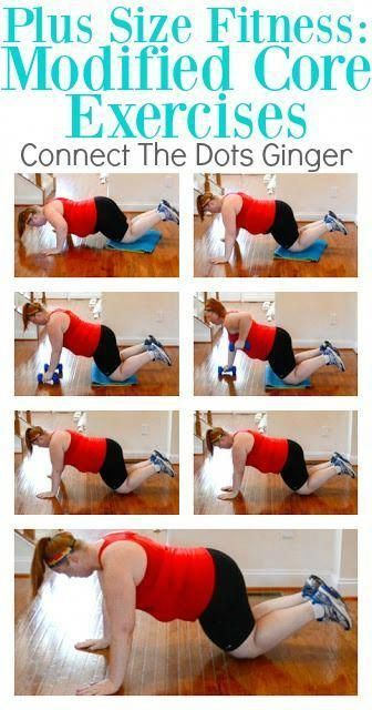 Plus Size Fitness: Modified Core Exercises  #Core #Exercises #fitness #hipexercisesforwomen #hipexercisesincrease #hippainexercises #largerhipexercises #Modified #size