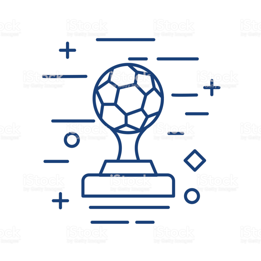 Soccer Trophy Thin Line Education Icon Royalty Free Soccer Trophy Thin Line Education Icon Stock Vector Art Education Icon School Icon Educational Illustration