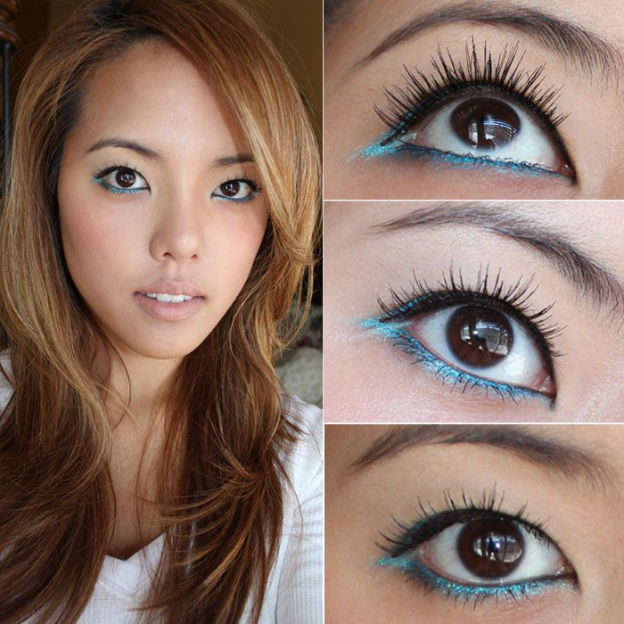 Elegant Lashes 501 Brown False Under Lashes Worn As Top Lashes With
