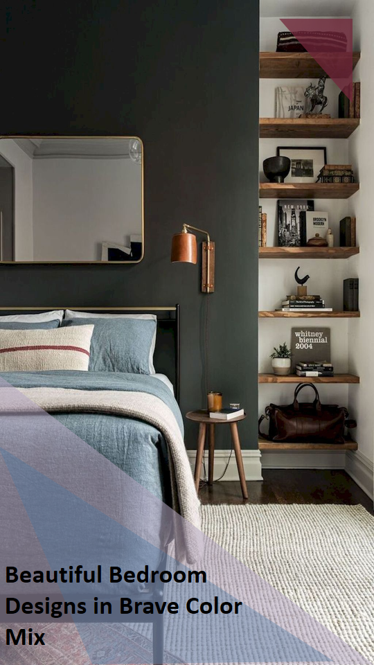 30 Beautiful Bedroom Designs In Brave Color Mix