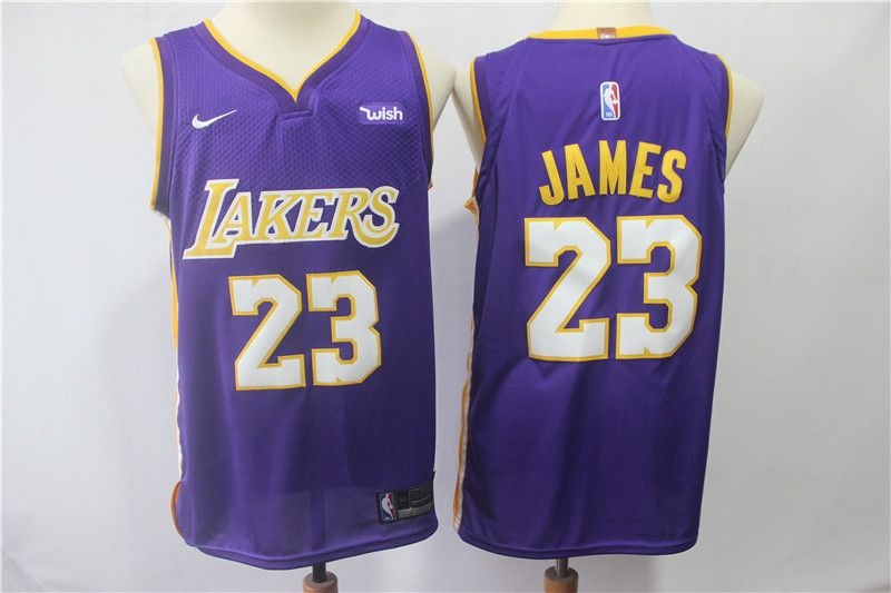 6b575badfcb Los Angeles Lakers   23 Lebron James 14 Brandon Ingram Purple Nike Swingman  Jersey
