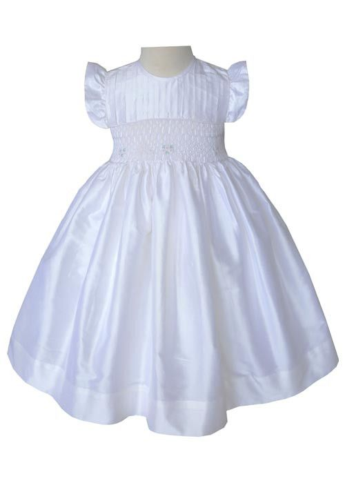 3db977903 Girls Special Occasion Off White Silk Dress--Carousel Wear - 1 ...