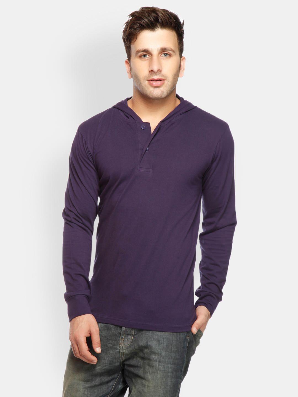 918e65796 Buy Gritstones Men Purple Hooded T Shirt - 289 - Apparel for Men ...