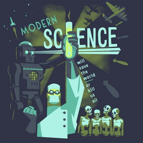 Science Design For Notebook: Modern Science Will Save The World Or Kill Us All. In 2019