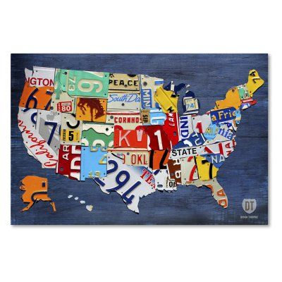 United States Map Canvas Wall Art.Trademark Fine Art Usa Map Canvas Wall Art Products Pinterest