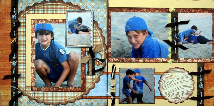 Brothers Scrapbook Page Kit