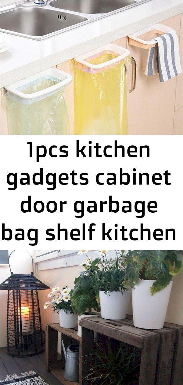 Photo of 1pcs kitchen gadgets cabinet door garbage bag shelf kitchen tools rack hanging s…