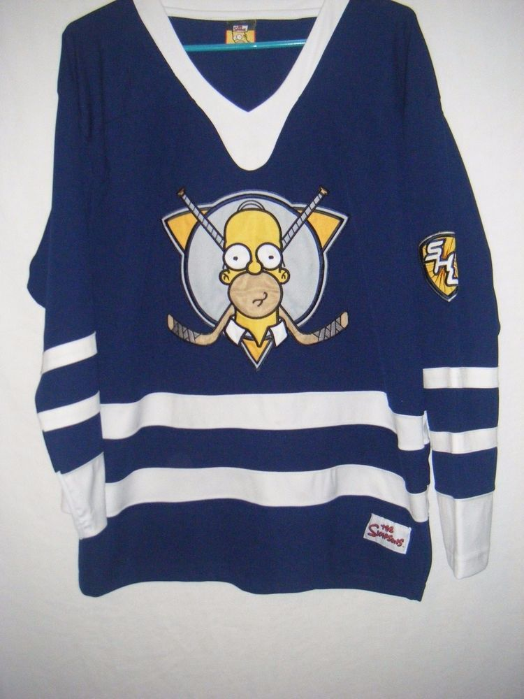 THE SIMPSONS HOMER SIMPSON HOCKEY JERSEY MEN S SIZE S M  TheSimpsons   TheSimpsons 34b1f69ec1a