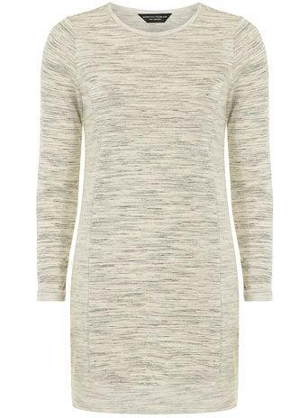 Grey long sleeve longline sweat