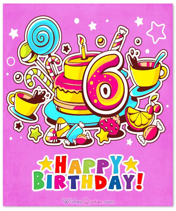 happy 6th birthday wishes for 6 year old boy or girl ivan