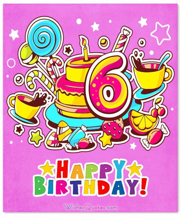 6th Birthday Wishes | ivan | Happy 6th birthday, Happy birthday