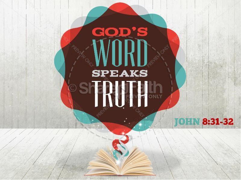 gods word speaks truth bible sermon powerpoint template | church, Modern powerpoint