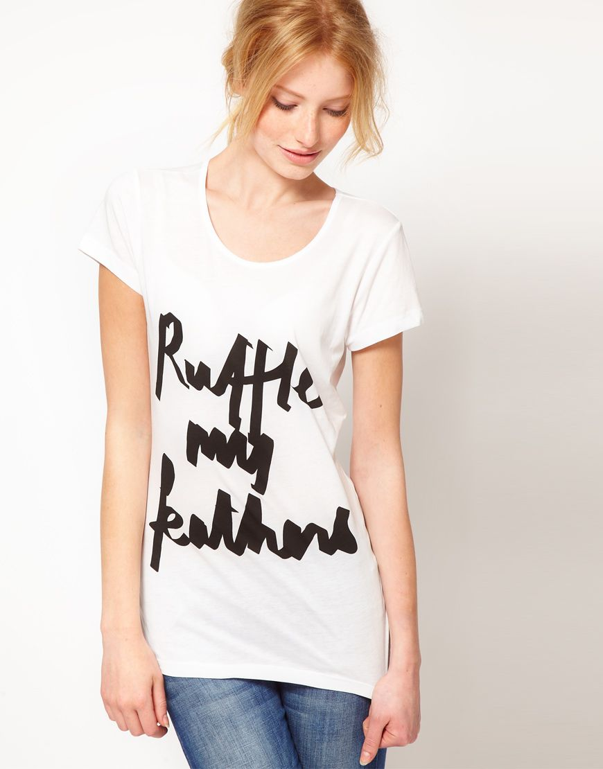 Asos ruffle my feathers tshirt my style pinterest feathers