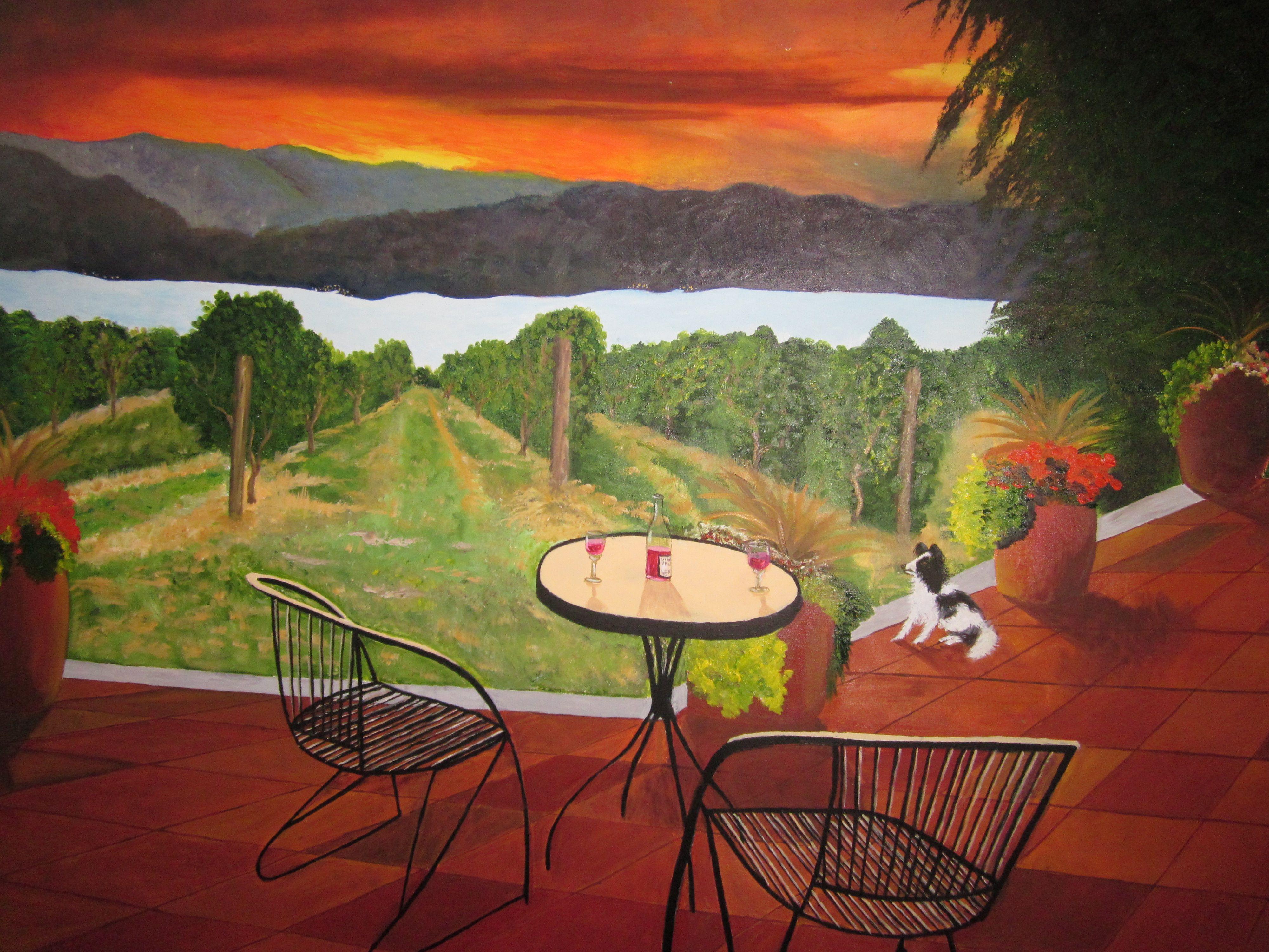 Vineyard in lake chelan wa oil painting janice whitaker
