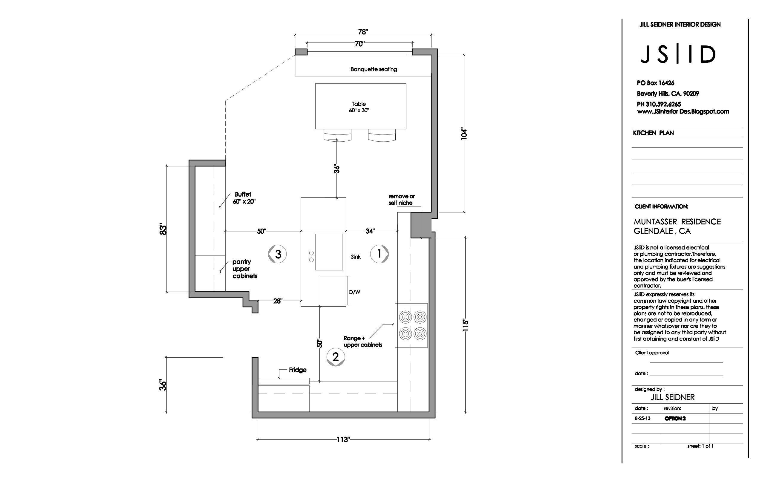 Glendale, CA Residence Kitchen Remodel Plan, Revised. www ...
