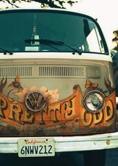 Hippie Things // VW Volkswagen Bus // saved to Art Cars and Guitars by Indigo Su…