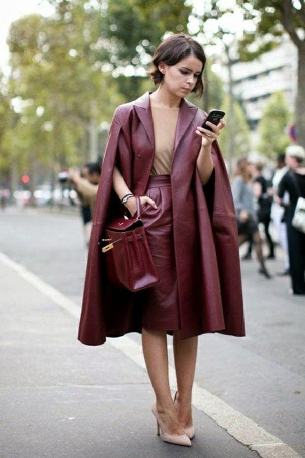 Manteau cape femme chic