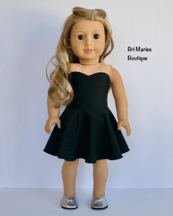 db8c828ab1613 Strapless Black Dress - 18 inch doll clothes | American girl dolls ...