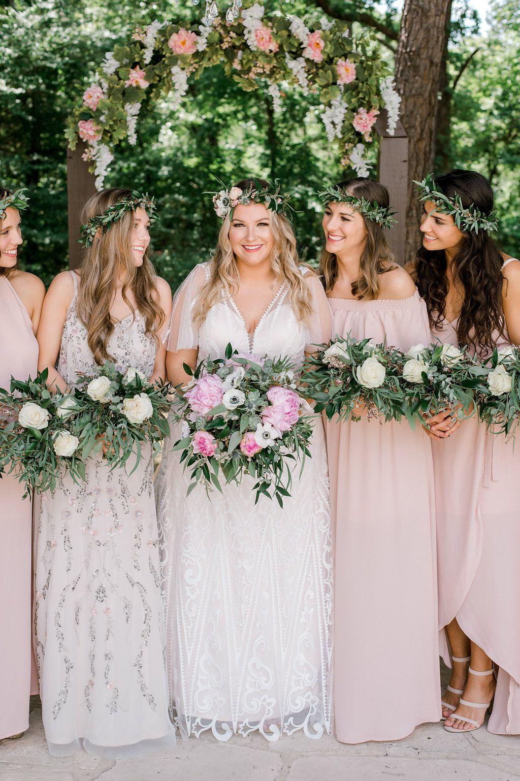 Blush succulent boho garden wedding beacon lane blog pinterest