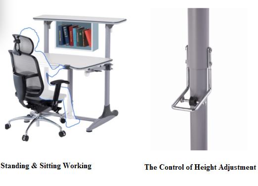 Hydraulic Gas Lift Adjustable Healthy Desk (Adults) U2013 Ergonomic Corporation  Hongkong Ltd