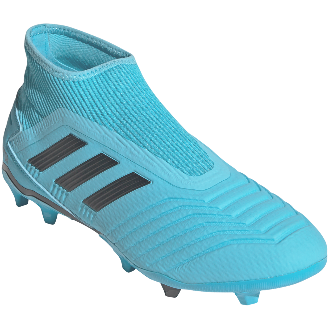 Adidas Predator 19 3 Laceless Fg Soccer Cleat Cyan Black Solar Yellow 9 Adidas Predator Cleats Soccer Cleats