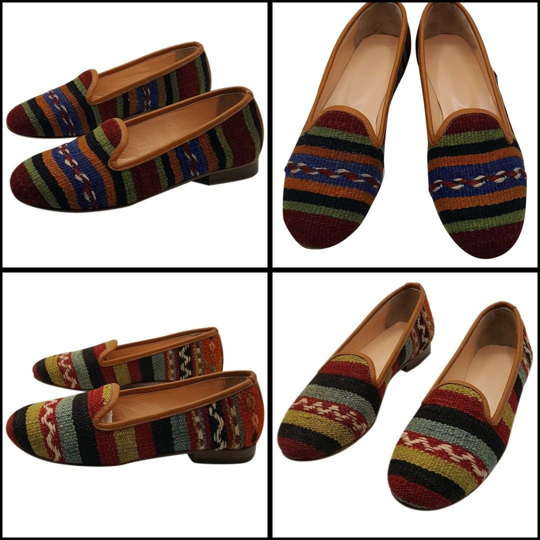Handmade genuine leather custom made vintage kilim sandals #kilimsandals #womenshoes #womensandals #bohostyle #handmadeshoes #flats #bohochic