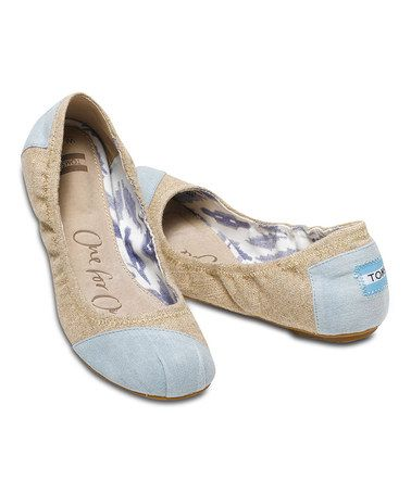 19b724b4f4b LOVING these denim ballet flats - TOMS sale on Zulily today