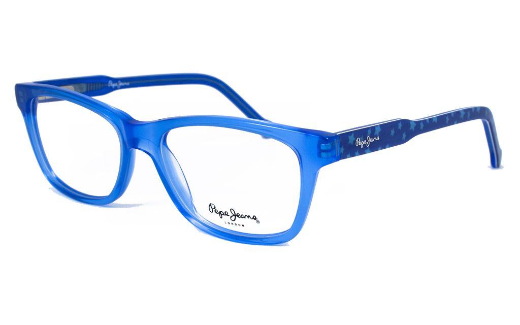 2481977537 Gafas Pepe Jeans para Opticalia en color azul klein y efecto translúcido.