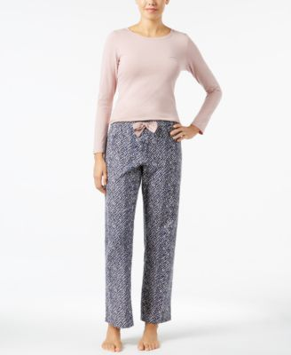 Calvin Klein Knit Top And Flannel Pajama Pants Set 49c417650414
