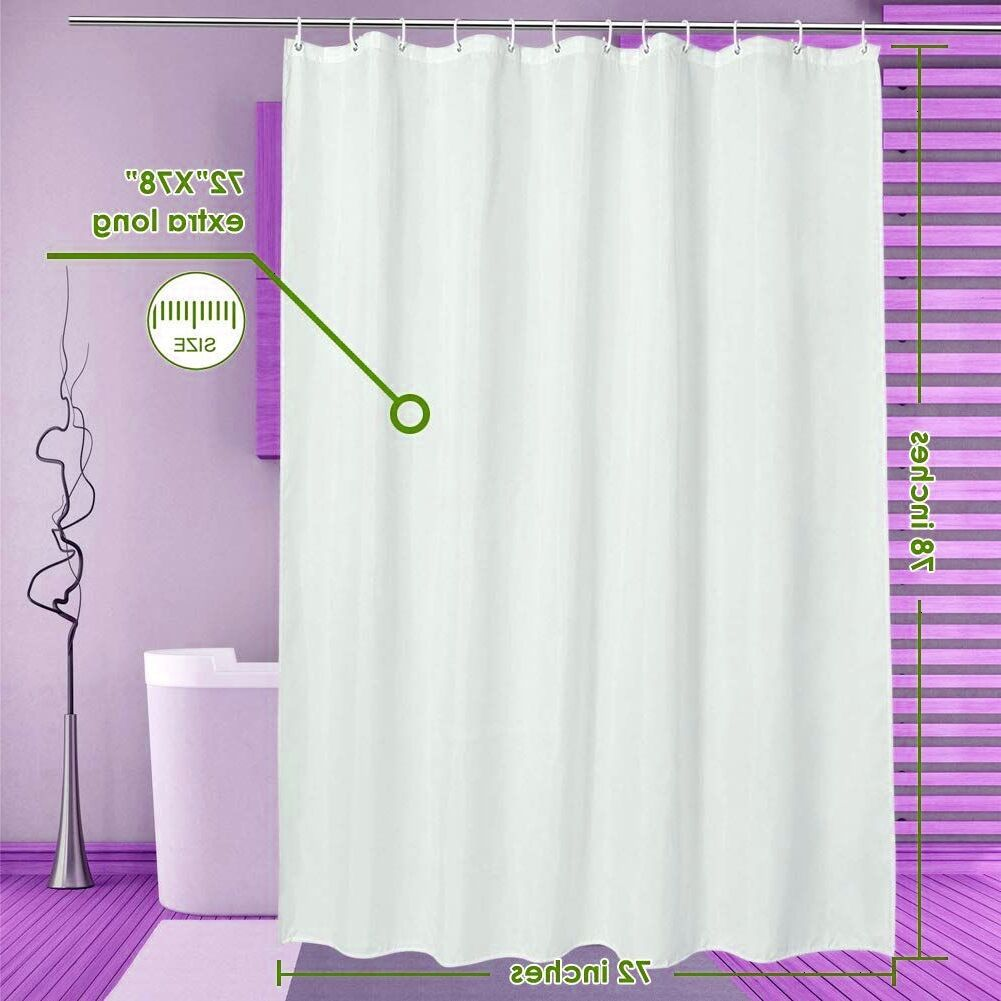 Future Home Interior Lanmeng Solid Fabric Extra Long Shower Curtain Liner For Bathroom Hotel In 2020 Extra Long Shower Curtain Long Shower Curtains Cheap Office Decor