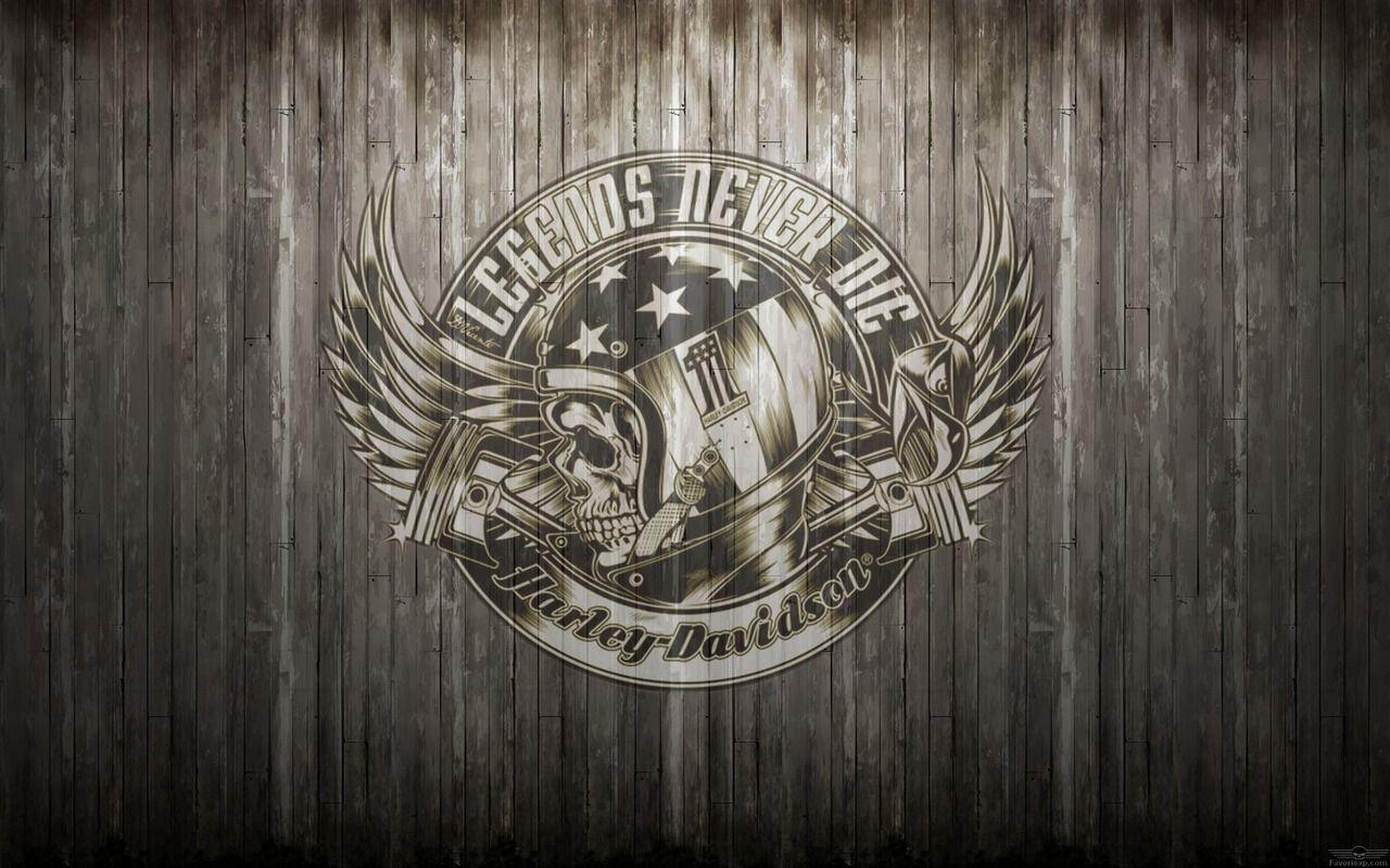 Fond d\'écran Harley-Davidson casque moto, crâne, nombre #1, ailes ...