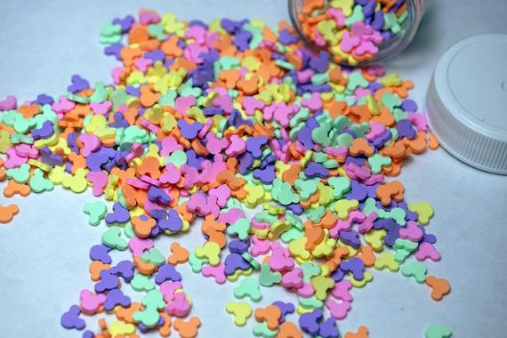 MICKEY FAKE SPRINKLES Slime Beads 1/4 Oz Jar Faux Topping