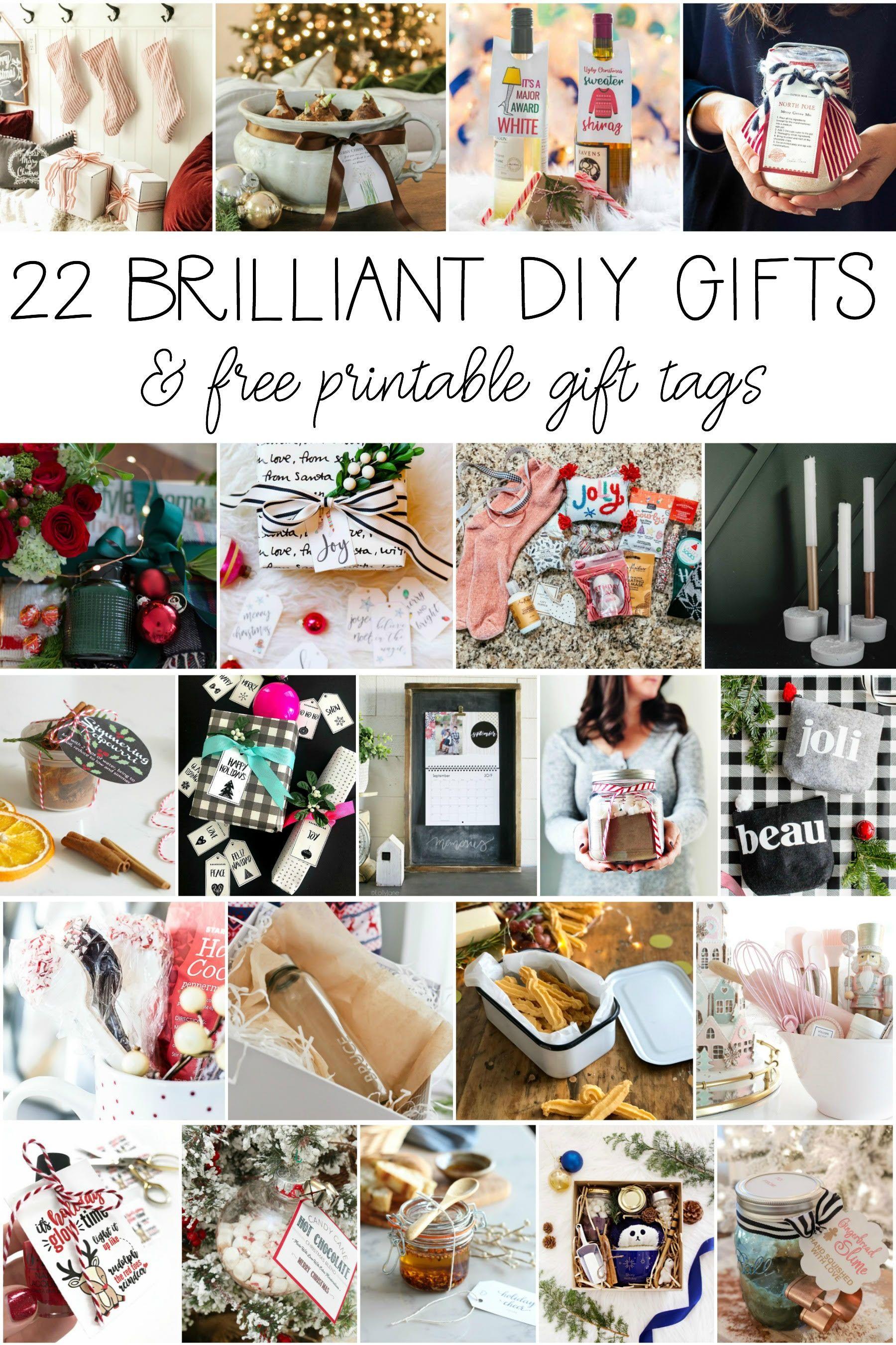 Christmas Gift Tags Pinterest.Farmhouse Christmas Wrap Idea Free Printable Gifting