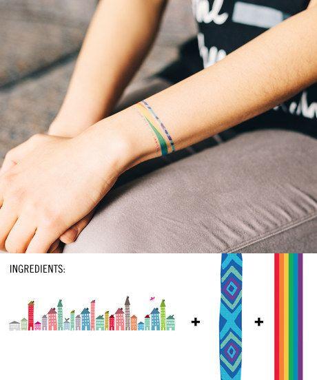 friendship bracelets clever tattoo and tatting. Black Bedroom Furniture Sets. Home Design Ideas