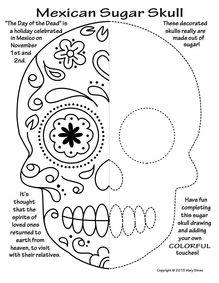 Worksheets Day Of The Dead Worksheets art enrichment everyday october activity coloring pages 20 unique activities your kids will love day of the dead sugar skulls symmetry halloween and classroom sub lessons