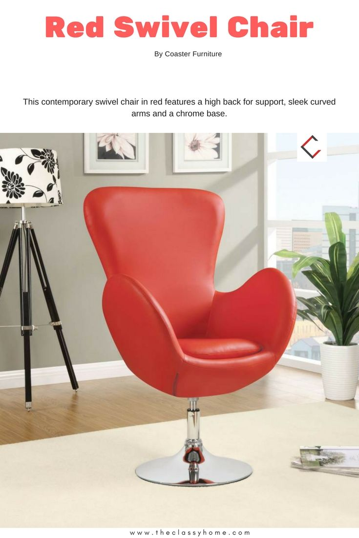 Coaster furniture red swivel chair upholstered accent