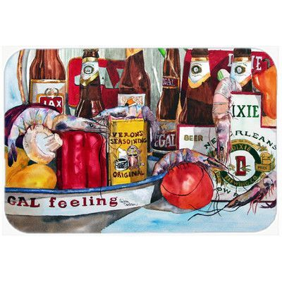 Caroline's Treasures Veron's and New Orleans Beers Glass Cutting Board