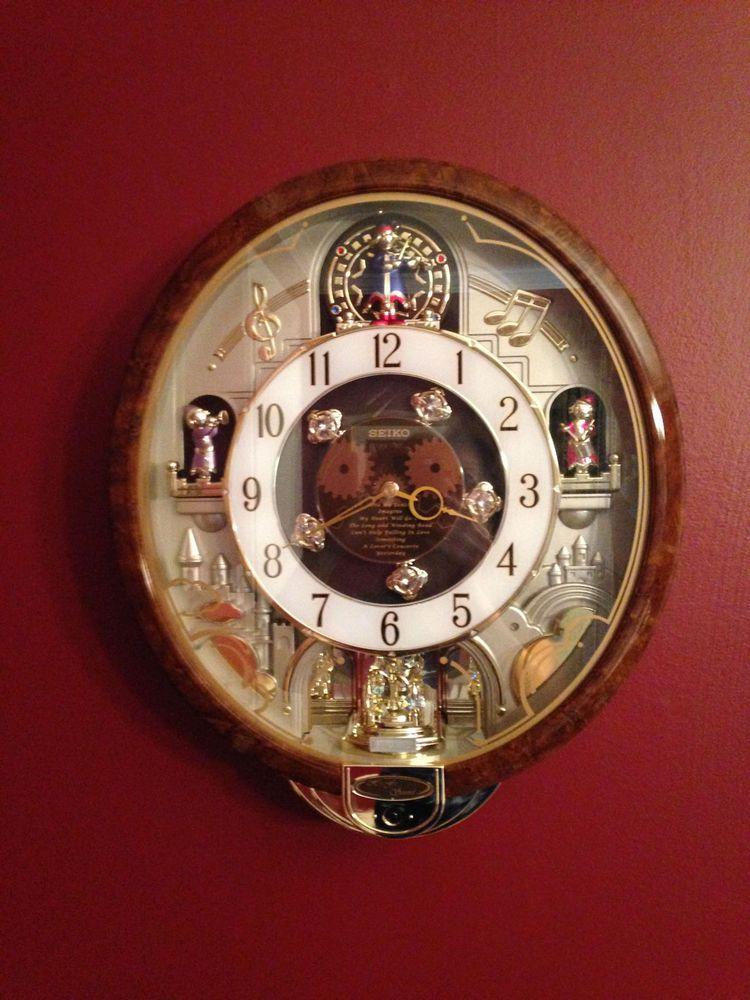 Seiko Melodies In Motion Beatles Elvis Songs Wall Clock W