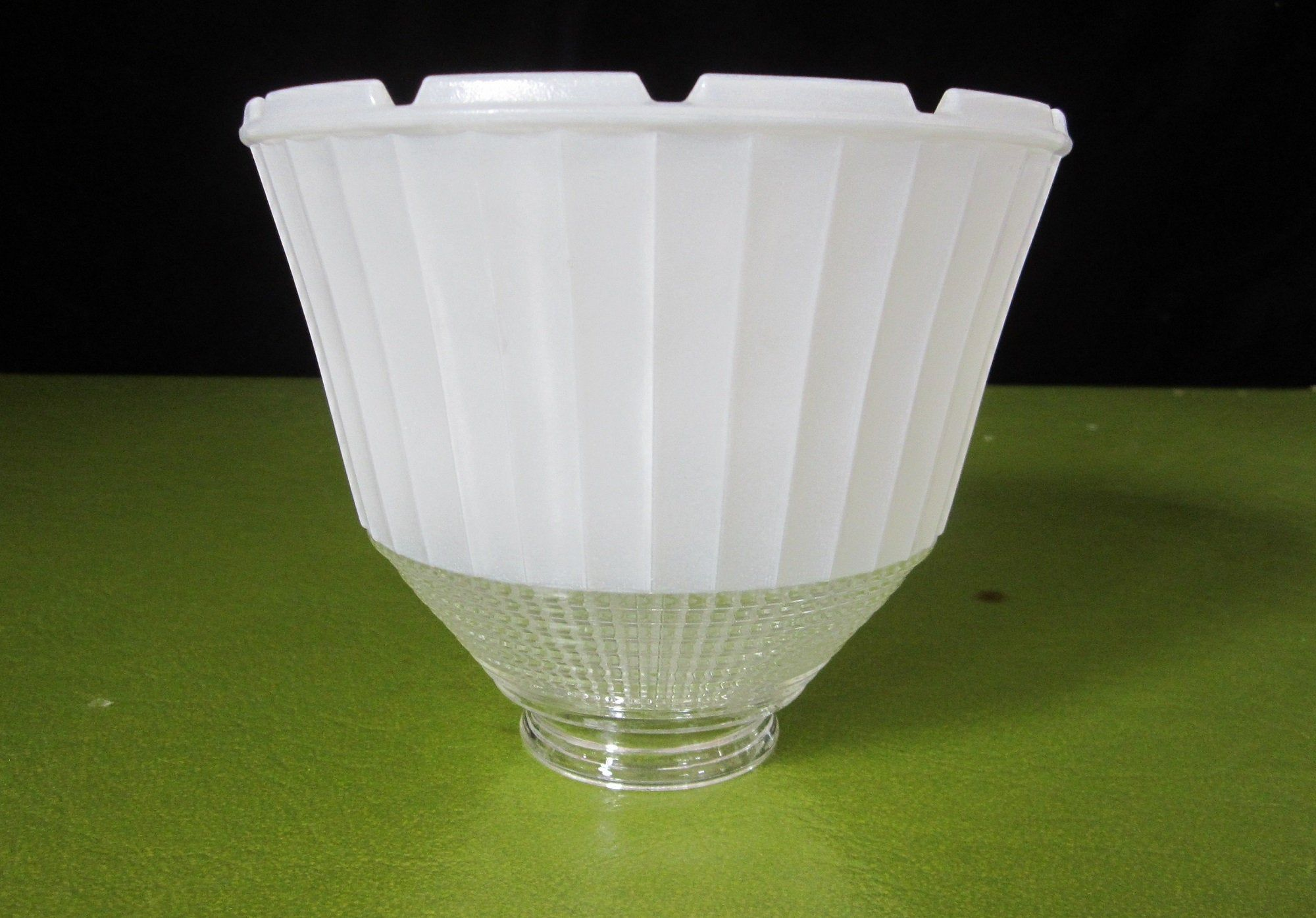 6 Torchiere Light Shade National Home Lamp Council No 955 2 25 Fitter Vintage 1957 Patent 2794115 Notched Glass Diff Glass Diffuser Light Shades Glass Bowl