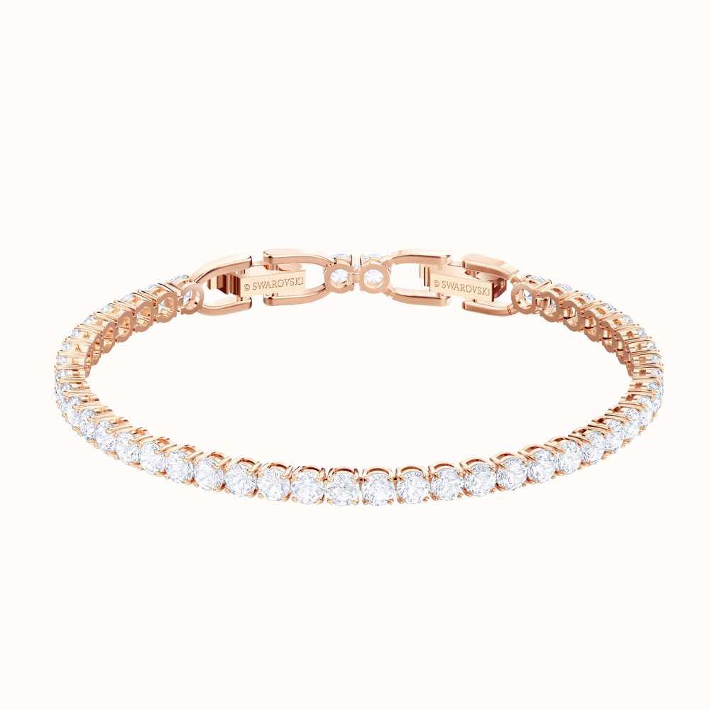 Swarovski Tennis | Rose-Gold Plated | White |Elegant | Bracelet ...