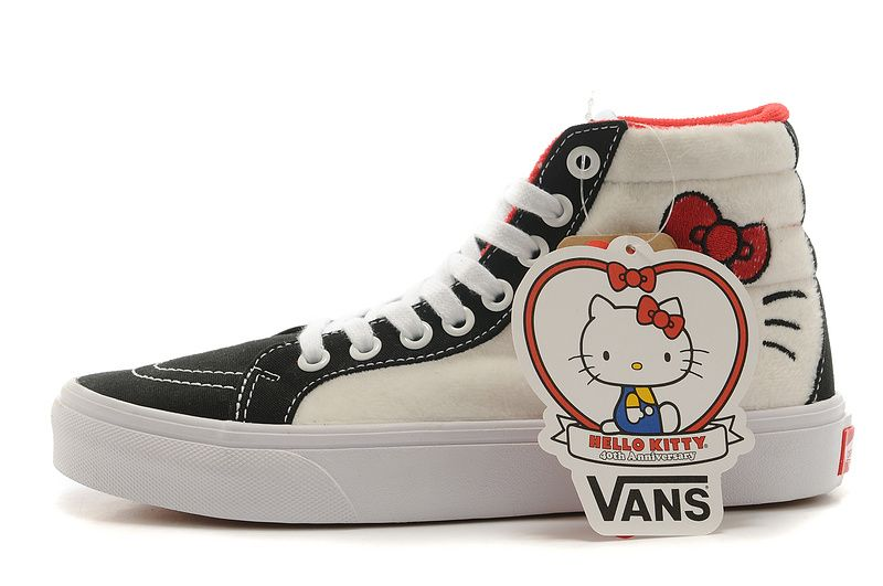 5ab5f371aebbb3 Vans Sk8 Hi Hello Kitty 40th Anniversary Mid Womens Shoe  Vans ...