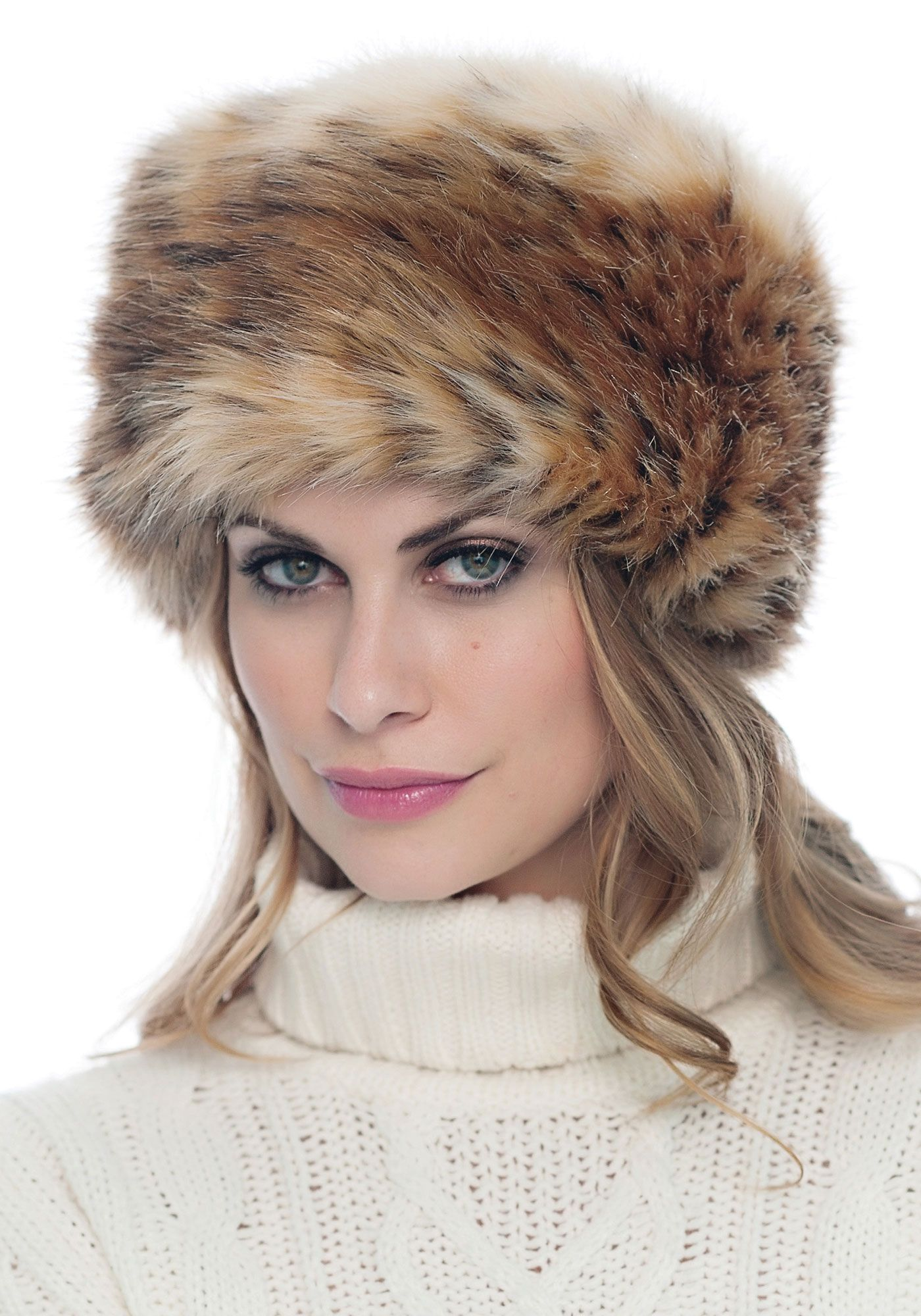 23beede4efb Siberian Tiger Russian Faux Fur Hat