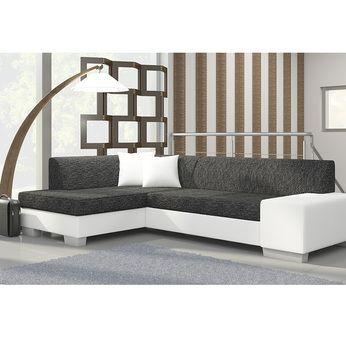 meuble de salon canap canap d angle blanc gris sofamobili - Canape Angle Blanc Et Gris