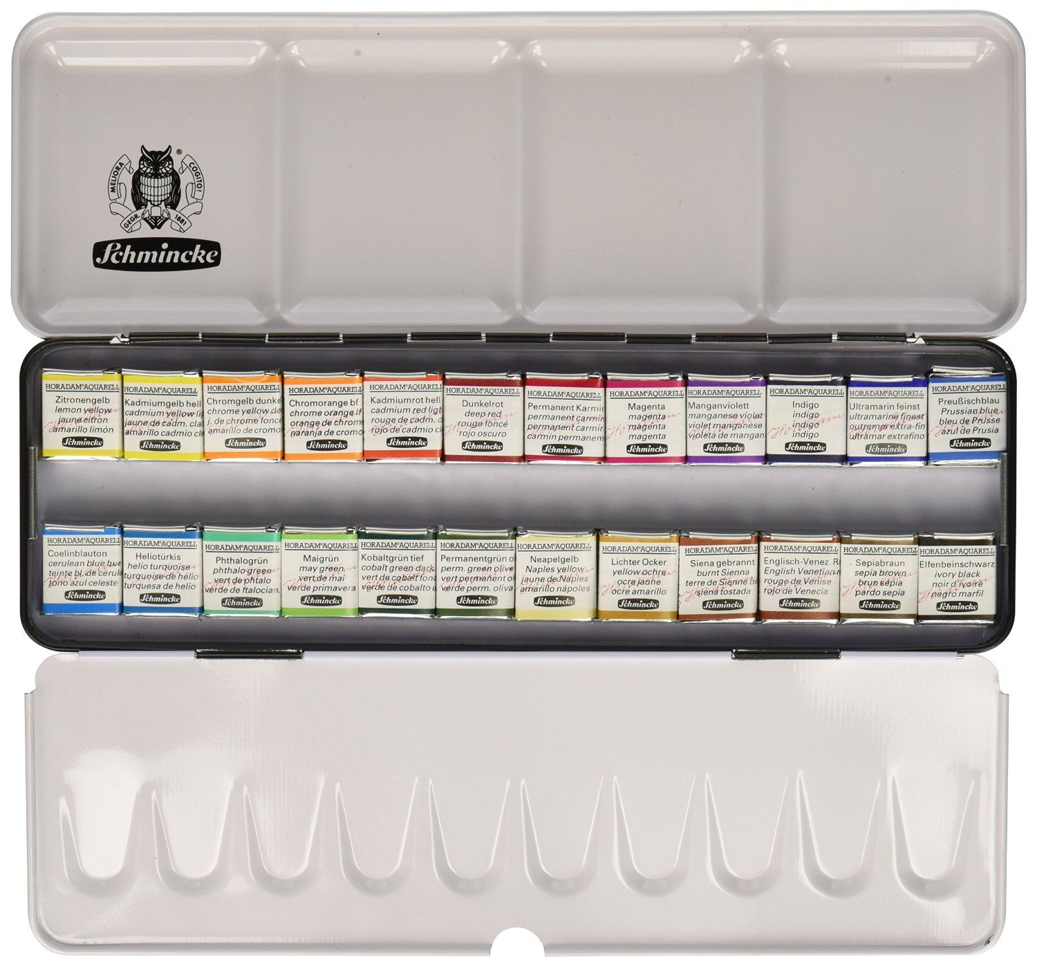 Schmincke Horadam Aquarell Watercolor Pan Sets Set Of 24