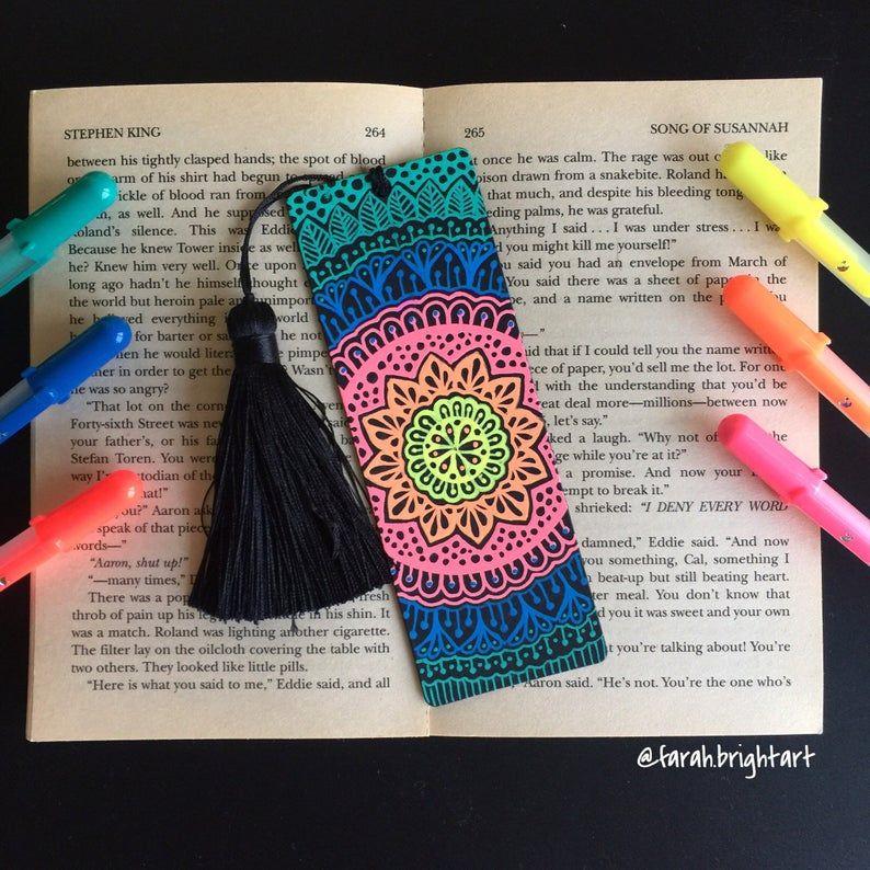 Mandala bookmark original piece Hand drawing mandala   Etsy
