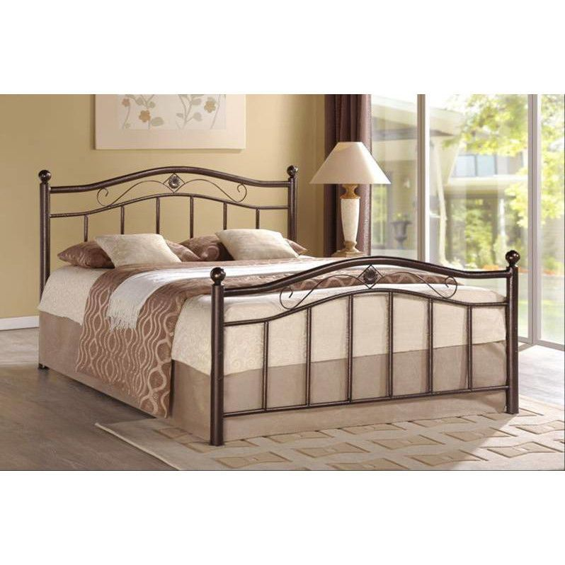 Twin Size Bed Frame Platform Bronze Metal Headboard Footboard