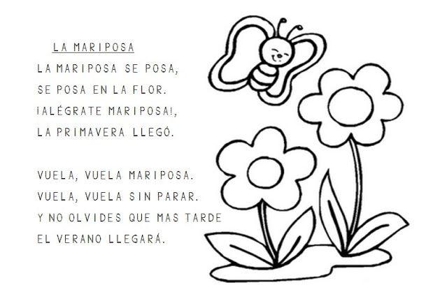 Primavera Dibujos Para Colorear Poesías Cortas Spanish Songs