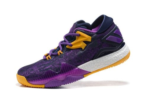 new arrival 6d5e8 ef2d8 Fashion 2018 Crazylight Boost Adidas Low Lakers Purple Yellow White